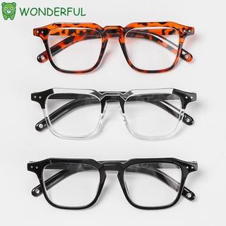WONDERFUL Fashion Myopia Glasses Classic Vision Care Optical Eyewear Office Computer Goggles Square Frame Unisex Vintage Eyeglasses black/black/transparent