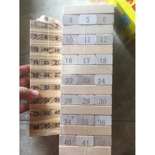 Bộ đồ chơi rút gỗ 54 thanh giá sỉ