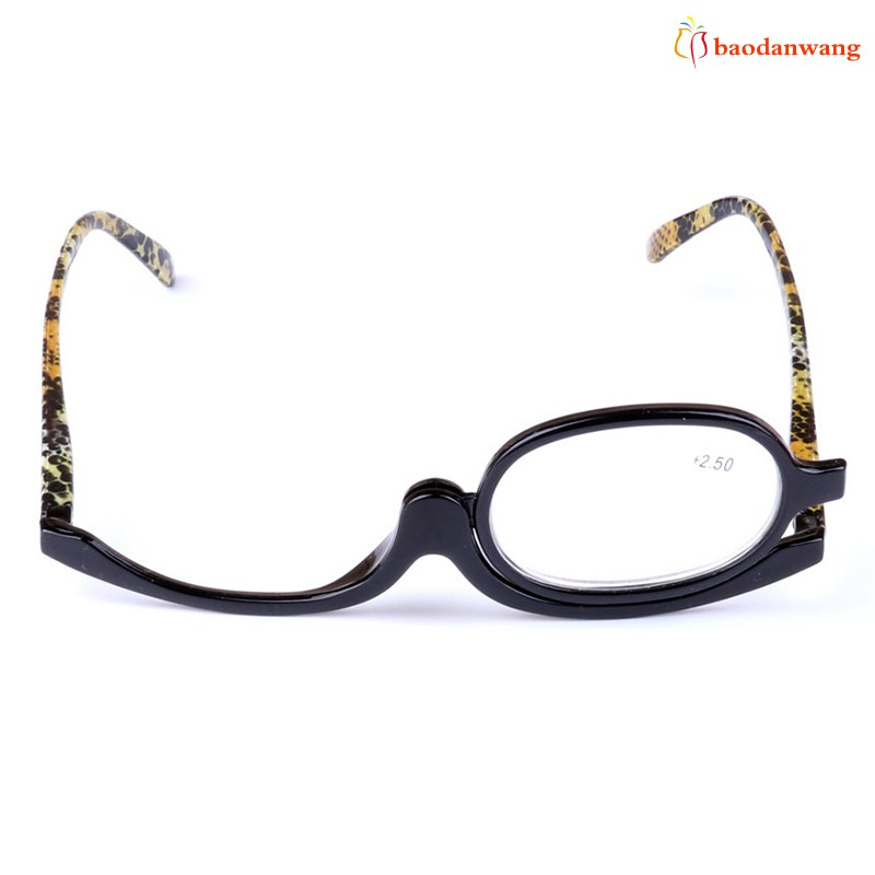 Makeup Reading Glasses Flip Rotatable Eyeglasses Portable Care for Women Lady