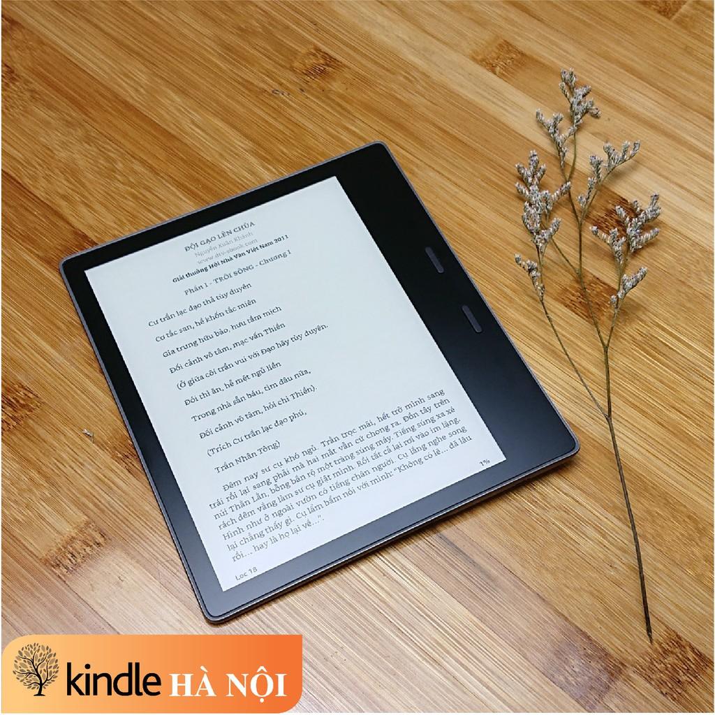 """Máy đọc sách Kindle Oasis 2 9th có phím chuyển trang, màn hình 12 bóng led 7"""" 300PPI, Chip 1Mhz, RAM 512mb, bộ nhớ 8/32G"""