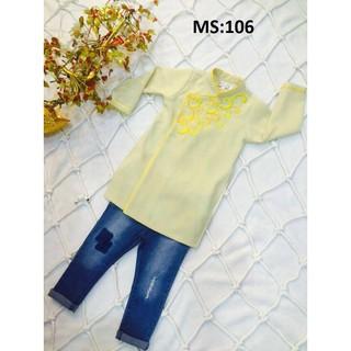 Áo dài cách tân bé trai (chỉ bán áo) chất vải đẹp thêu hoa văn sale giảm giá yêu thương size từ (10kg-36kg)