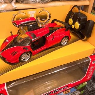 🌟 Xe Điều Khiển Ferrari – Lamborghini Đỏ 🌟 Pin 2A – Chạy Tới Lùi & có Nút mở đóng cửa ( Biến Hình Robot )