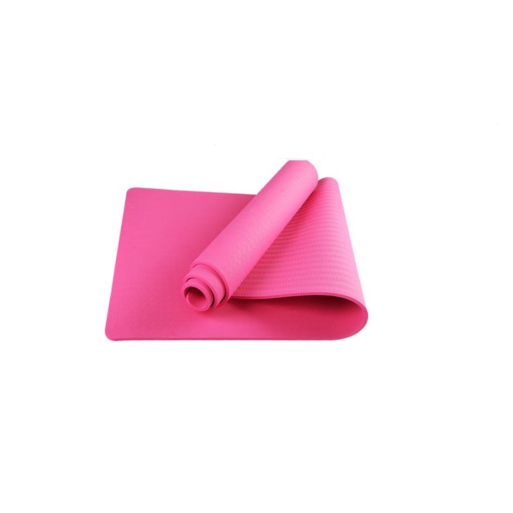 Thảm Yoga Siêu Dày Dặn 10mm Dày Dặn Màu Hồng
