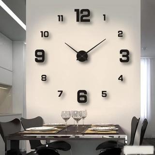 Đồng hồ dán tường bằng acrylic tự dính 3D DIY hiện đại