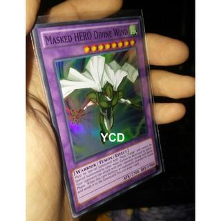 Thẻ bài yugioh chính hãng Masked HERO Divine Wind – Super Rare