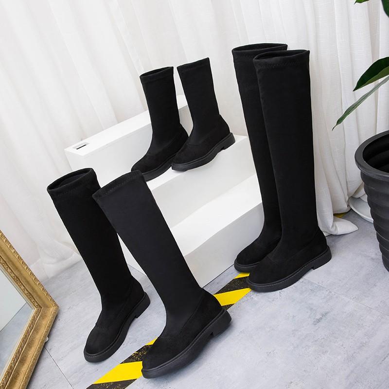 Giày cao quá gối nữ mùa thu và mùa đông mới màu đen hoang dã bên trong giày cao - 22317058 , 3412815597 , 322_3412815597 , 331200 , Giay-cao-qua-goi-nu-mua-thu-va-mua-dong-moi-mau-den-hoang-da-ben-trong-giay-cao-322_3412815597 , shopee.vn , Giày cao quá gối nữ mùa thu và mùa đông mới màu đen hoang dã bên trong giày cao