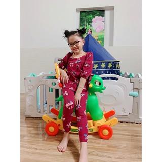 Bộ babydoll tay lửng quần dài thun borip mịn đẹp cho bé gái size đại từ 22 đến 40kg - Bộ quần áo bé gái