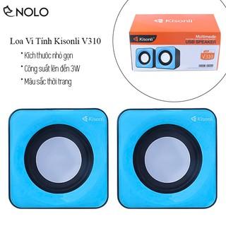 Bộ Loa Vi Tính 2 Cái 2.0 Kisonli V310 Công Suất 3W Dùng Cổng USB 5V Và Jack Tín Hiệu 3.5mm
