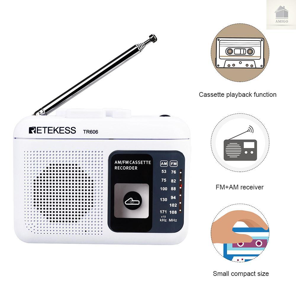 Radio Am Retekess Tr606 Mini Có Ăng Ten Và Phụ Kiện
