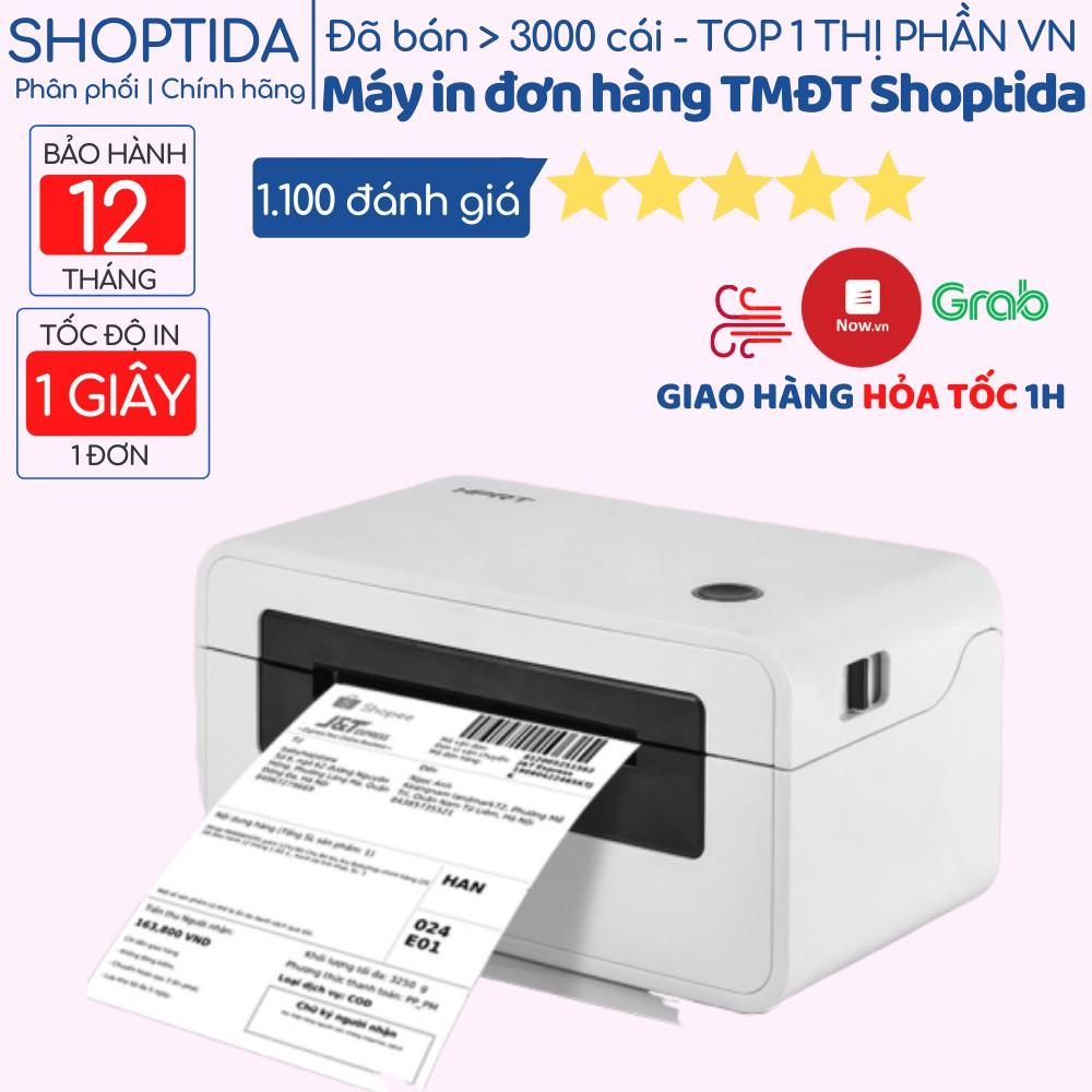 Máy in nhiệt đơn hàng TMĐT Shoptida HPRT N41, in hóa đơn, livestream, tem mã vạch QR code Barcode, Bill phiếu gửi hàng