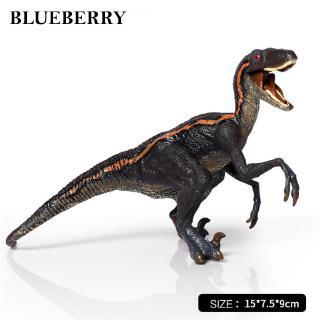 Dinosaur Toy Velociraptor Unisex Blue Plastics 15*7.5*9 cm 2 Dinosaur Nice