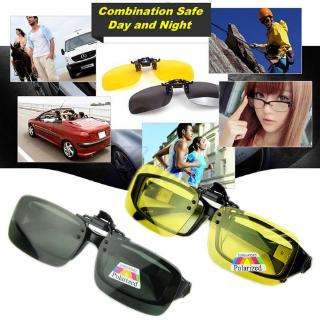 BST❀ New Day Night Vision Polarized Driving Clip-on Flip-up Lens Sunglasses Glasses