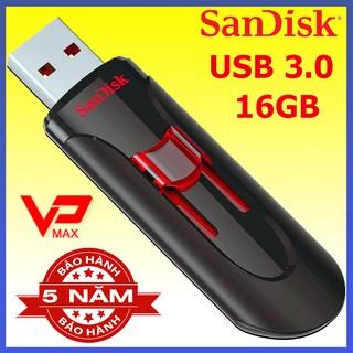 [Mã ELFLASH5 giảm 20K đơn 50K] Usb 3.0 16Gb Sandisk CZ600 / Toshiba siêu tốc độ 100Mb/s hàng chính hãng