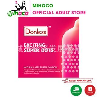 Bao cao su Donless dạng gai siêu hấp dẫn Exciting Super Dots 3 bao – MIHOCO