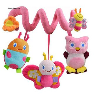 [AC} Multifunction Lovely Baby Bed Hanging Rattle Butterfly Bee Owl Soft Crib Toy