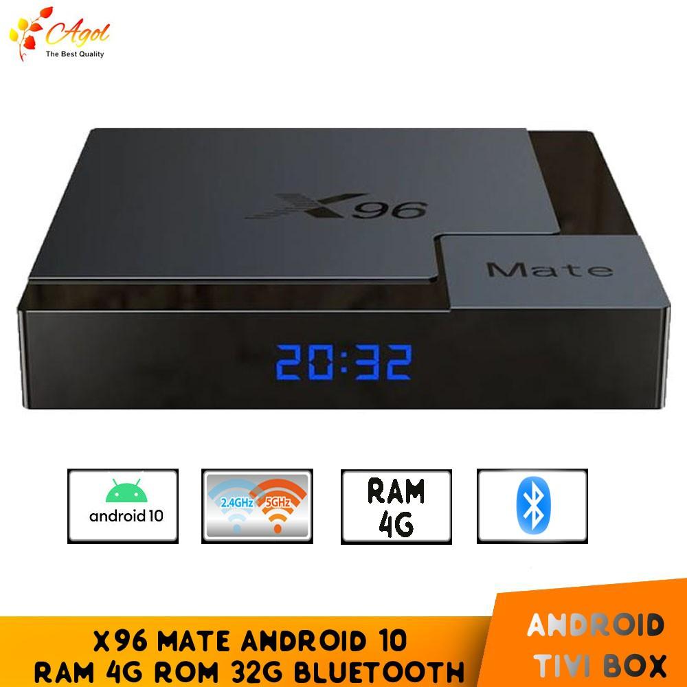 Android Tivi Box X96 Mate Bluetooth Ram 4G Rom 32G Android 10 cài sẵn bộ  ứng dụng giải trí miễn phí vĩnh viễn tốt giá rẻ