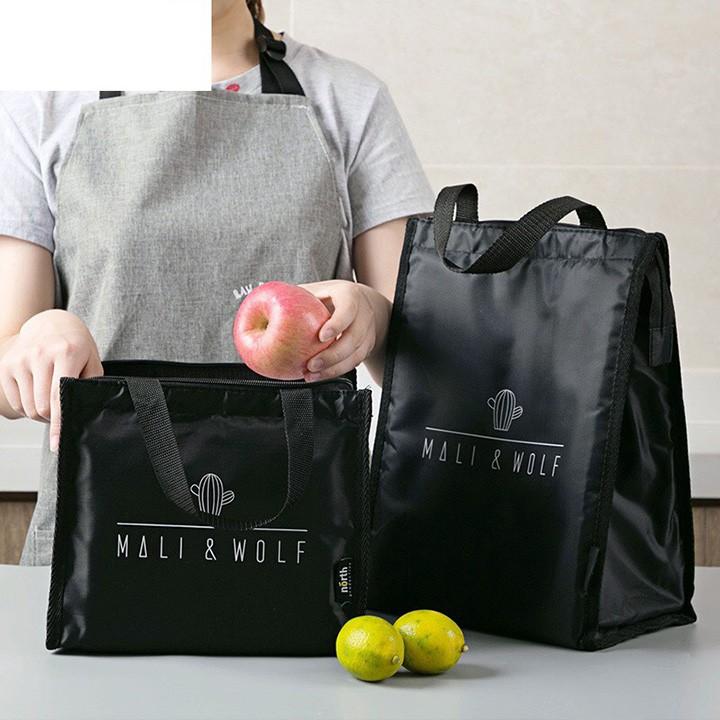 Túi giữ nhiệt đựng hộp cơm đồ ăn giao hàng có khóa kéo 3 lớp giữ nhiệt kiểu xuất nhật dày dặn nhiều kích cỡ-HL2