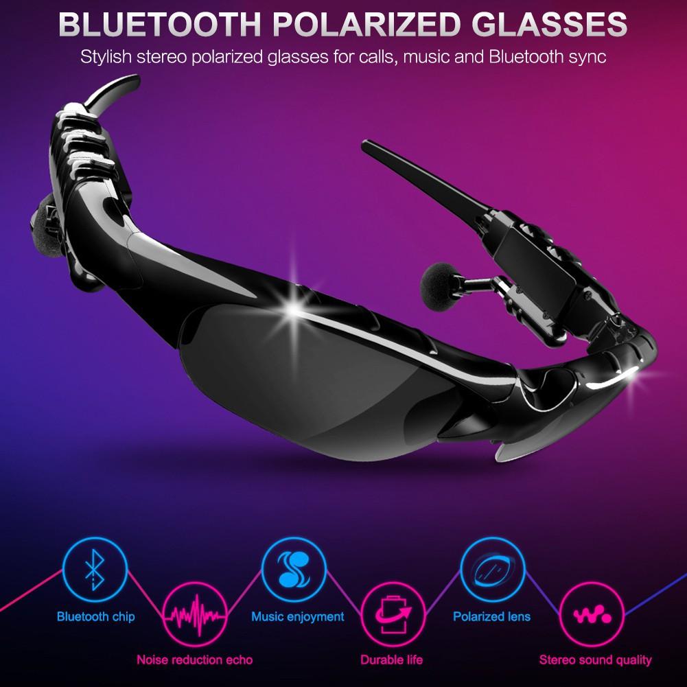 Kính Mát Thông Minh Kết Nối Bluetooth 5.0 Kèm Phụ Kiện