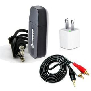 [Mã ELFLASH5 giảm 20K đơn 50K] Bộ USB thu bluetooth 4 trong 1 cho dàn amly ra loa 3H001