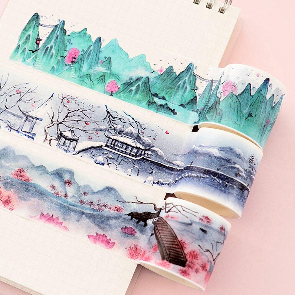 Băng keo dùng trang trí sổ lưu niệm họa tiết Trung Hoa độc đáo