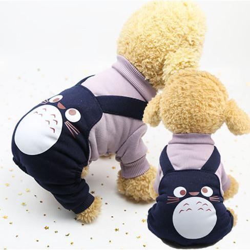 [HÀNG THẬT]  Áo quai chinchillas tím hình Toro, nỉ 4 chân dành cho Chó Mèo   Top Bán Chạy