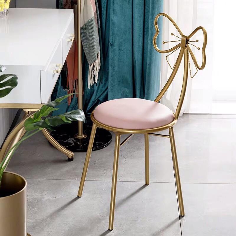 Ghế bàn trang điểm, ghế nơ (ảnh thật - sẵn ghế hồng nơ) - 61 | Shopee Việt  Nam