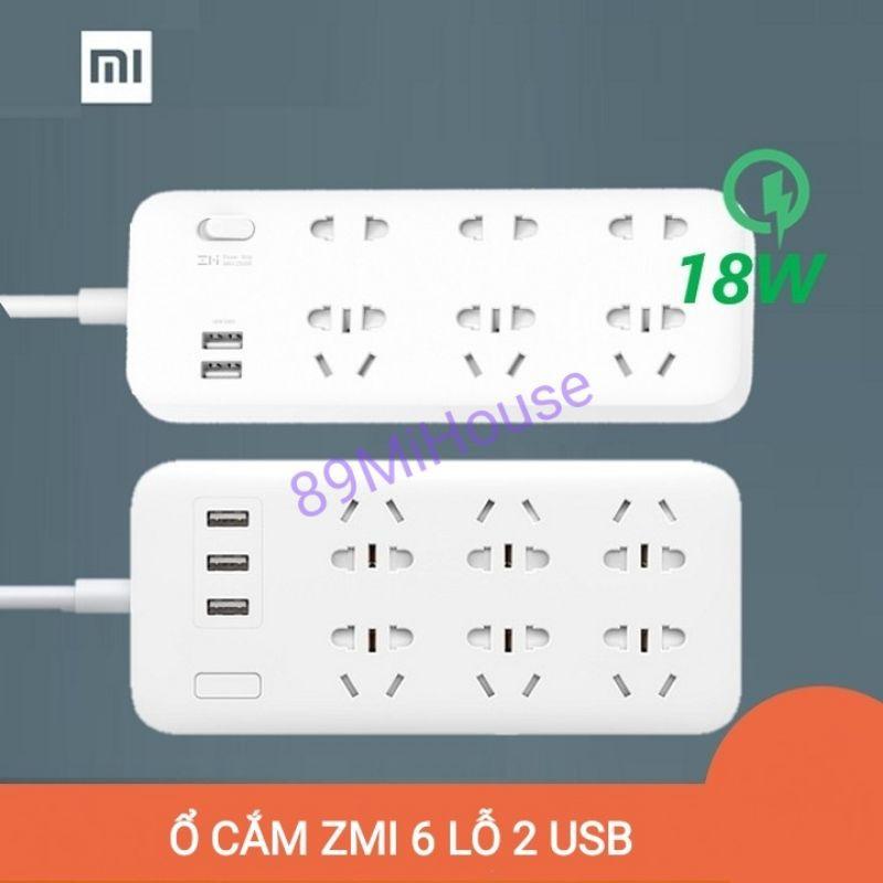 Ổ cắm Xiaomi ZMI Power Strip 6 cổng 2 USB CX05 - Ổ cắm điện Xiaomi ZMI CX05 6 cổng 2 USB - CX05