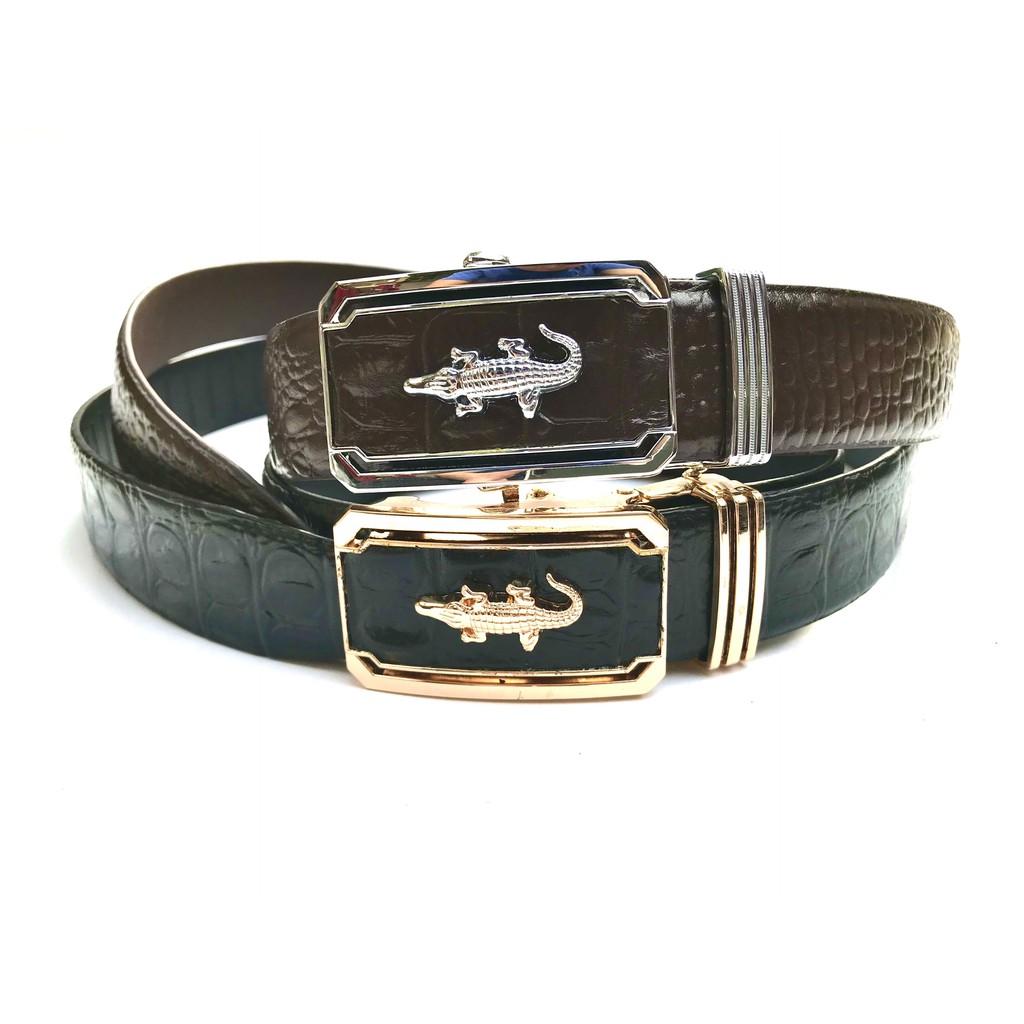 [GIÁ TẠI XƯỞNG] Dây lưng da bò dập vân cá sấu thời trang - CM027