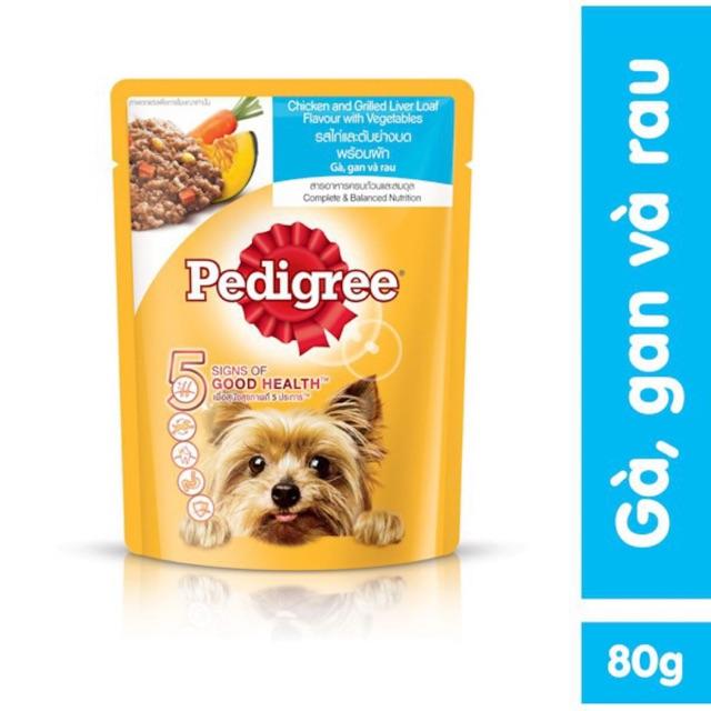 [Mã 157FMCGSALE giảm 8% đơn 500K] Sốt Pedigree cho chó vị gà, gan và rau