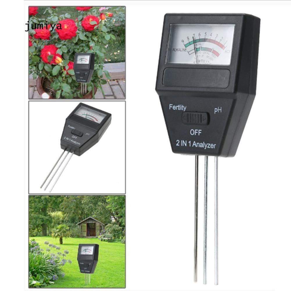 JUYA    2 in 1 pH Meter & Fertility Tester Soil Analyzer with 3 Probes Gardening Tool