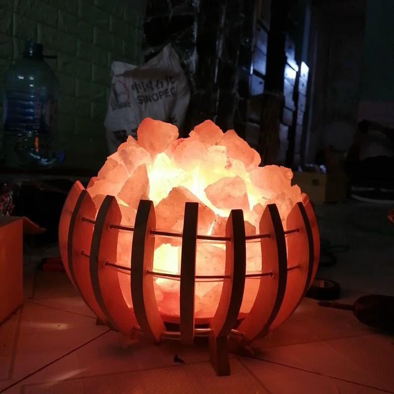 Giỏ đèn đá muối Himalaya | Đèn đá muối Himalaya