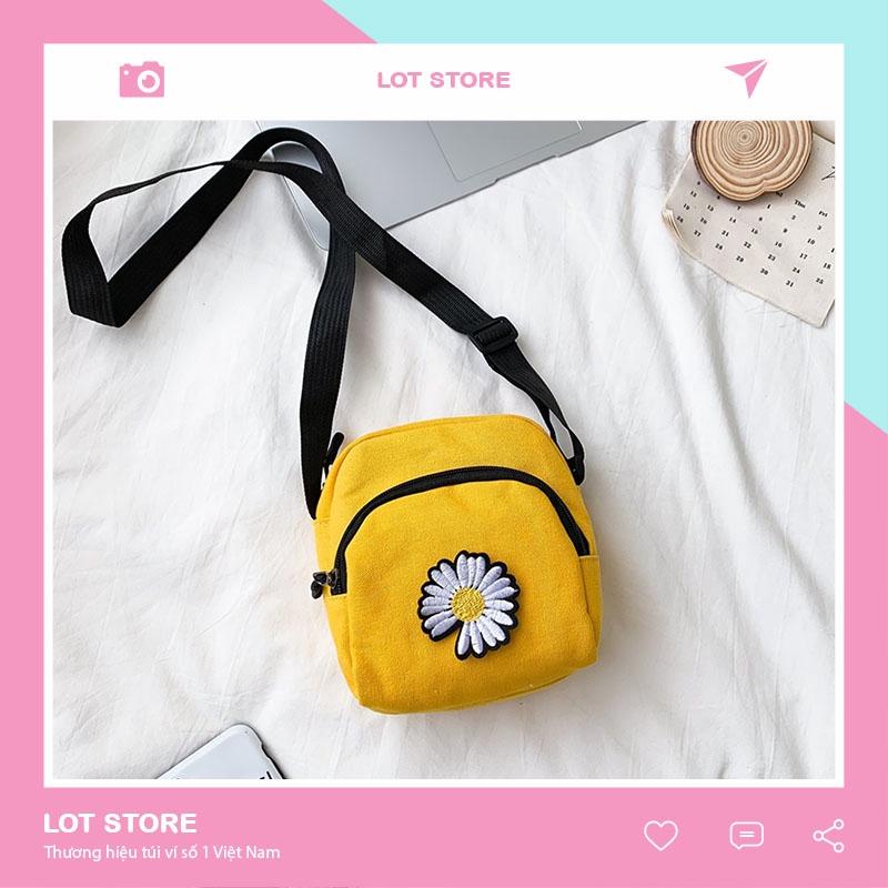 Túi tote đẹp vải canvas đeo chéo mềm đi học giá rẻ LOT STORE TX515