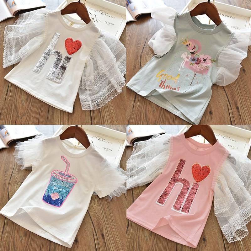 Áo thun cotton mặc hàng ngày thời trang mùa hè cho bé gái
