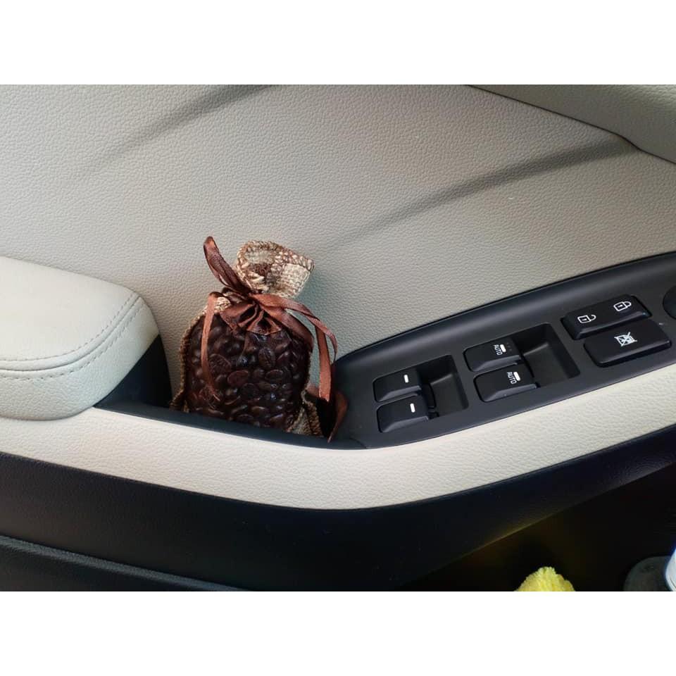 Túi thơm hạt cà phê treo xe ô tô, tủ quần áo, phòng khách, phòng bếp khử mùi ẩm mốc