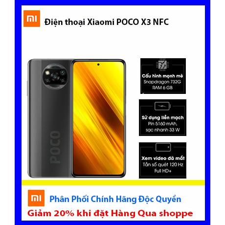 Điện thoại Xiaomi POCO X3 NFC, Mới 100% Đặt Qua Shoppe Giảm 20%