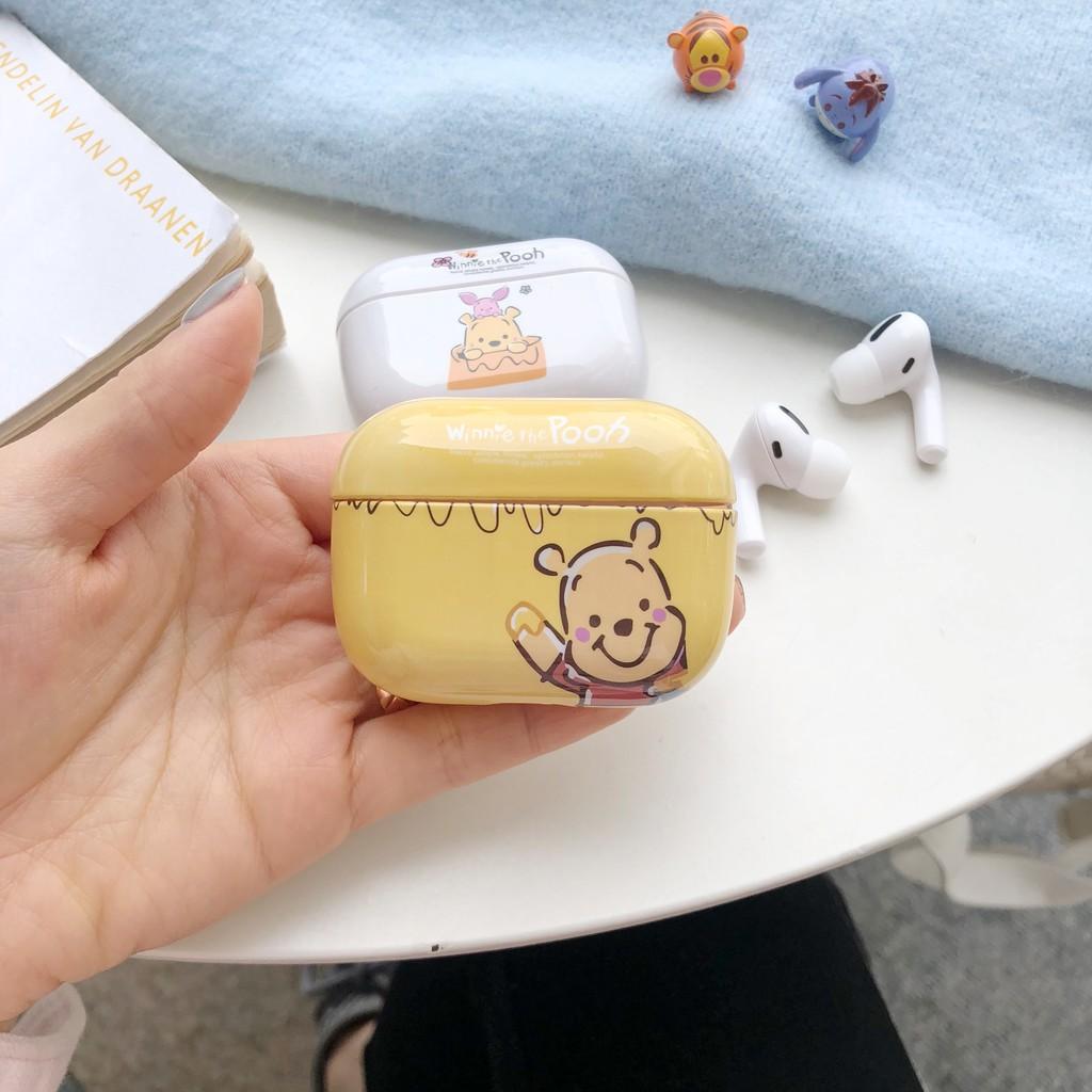 Vỏ Bảo Vệ Hộp Sạc Tai Nghe Airpods 1 / 2 / Pro Hình Gấu Pooh Dễ Thương