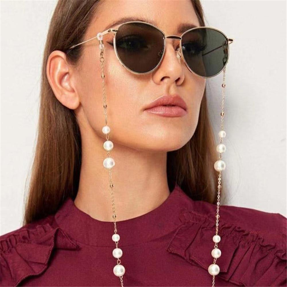 Dây đeo kính mắt chống thất lạc phối ngọc trai phong cách Unisex sang trọng