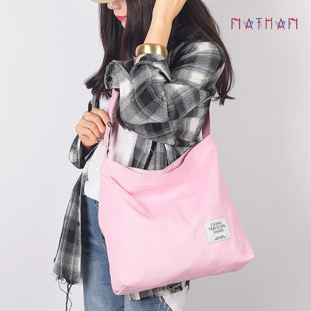 nathan fashion❀Canvas Shoulder Handbags Women Totes (Pink)+Leather Plaid Clutch Long Purse