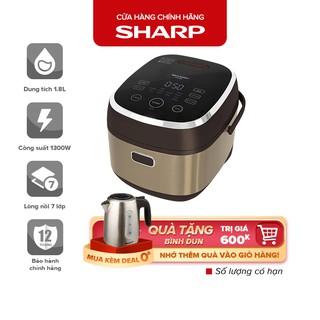 Nồi Cơm Điện Sharp 1.8L Sharp KS-IH190V-GL, Lưu Nhớ Khi Nguồn Điện Bị Ngắt, Bền, Đa Năng, Bảo Hành Chính Hãng 12 Tháng