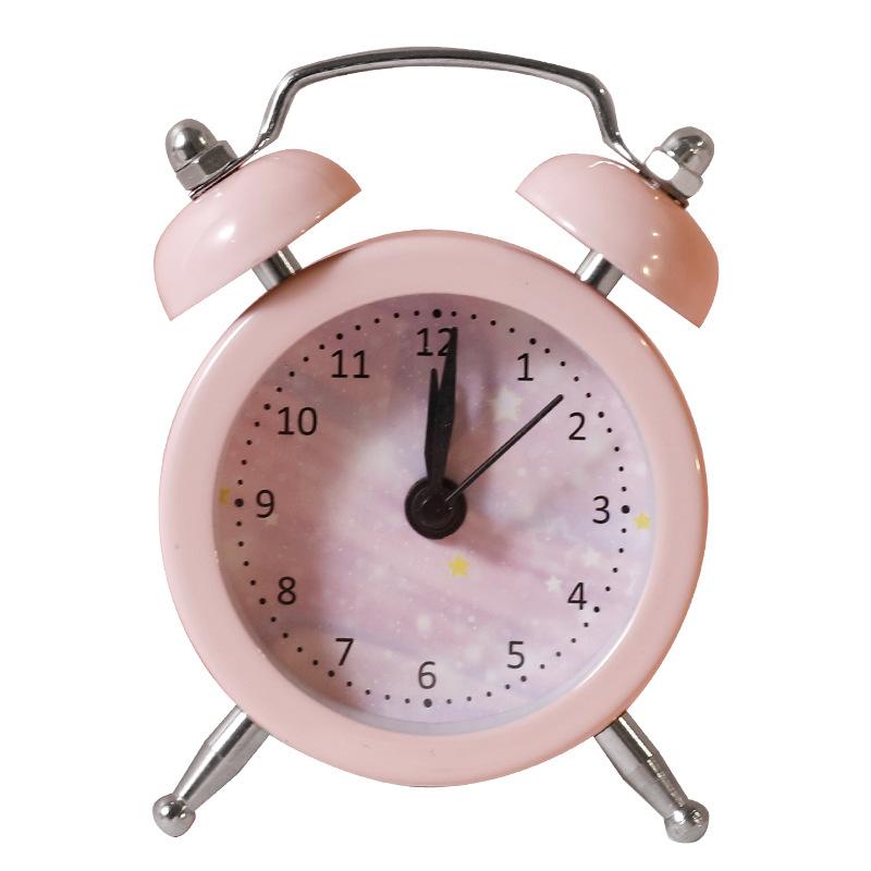 Bedside Student Creative Children Small Alarm Clock Cute Cartoon Simple Bedroom Loud Alarm Clock Table