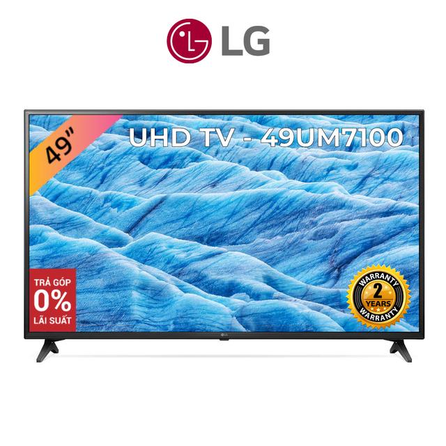 Smart Tivi LG 49 Inch UHD 4K 49UM7100PTA - Model 2019 (Chính Hãng)