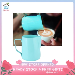Sixxx Stainless Steel Coffee Pitcher Milk Frothing Jug Cup for Latte Art Making