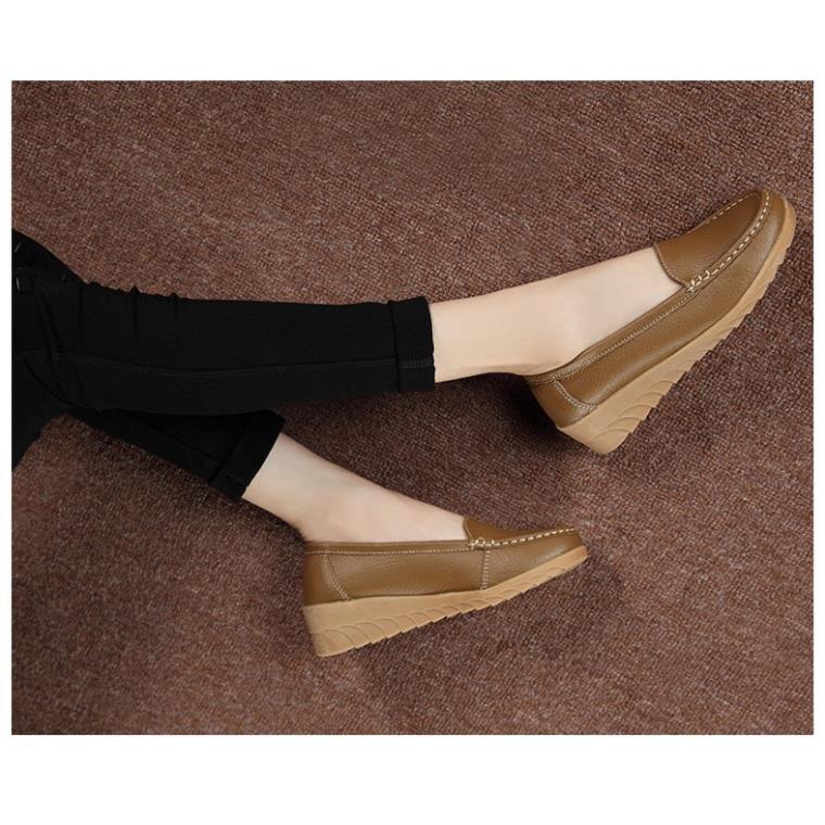 Giày moca nữ chất liệu da mềm mẫu mã mới lạ thời trang siêu hot hit TH