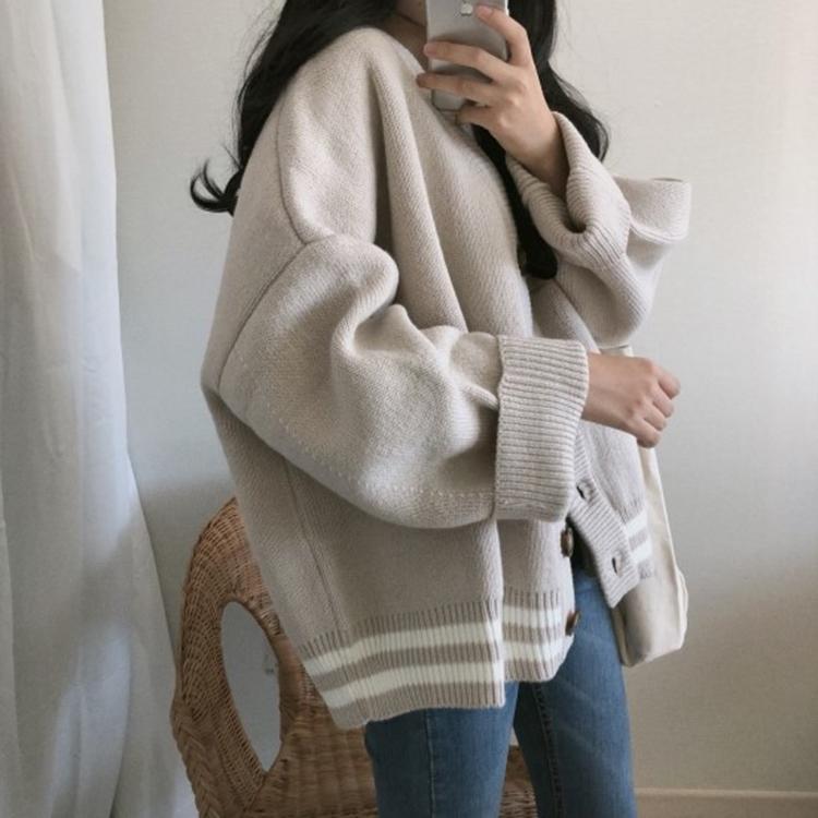 Áo len nữ dài tay cổ chữ V thời trang