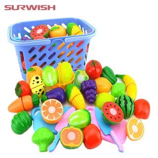 Bộ Đồ Chơi cắt trái cây bằng nhựa cho bé(tặng kèm giỏ)