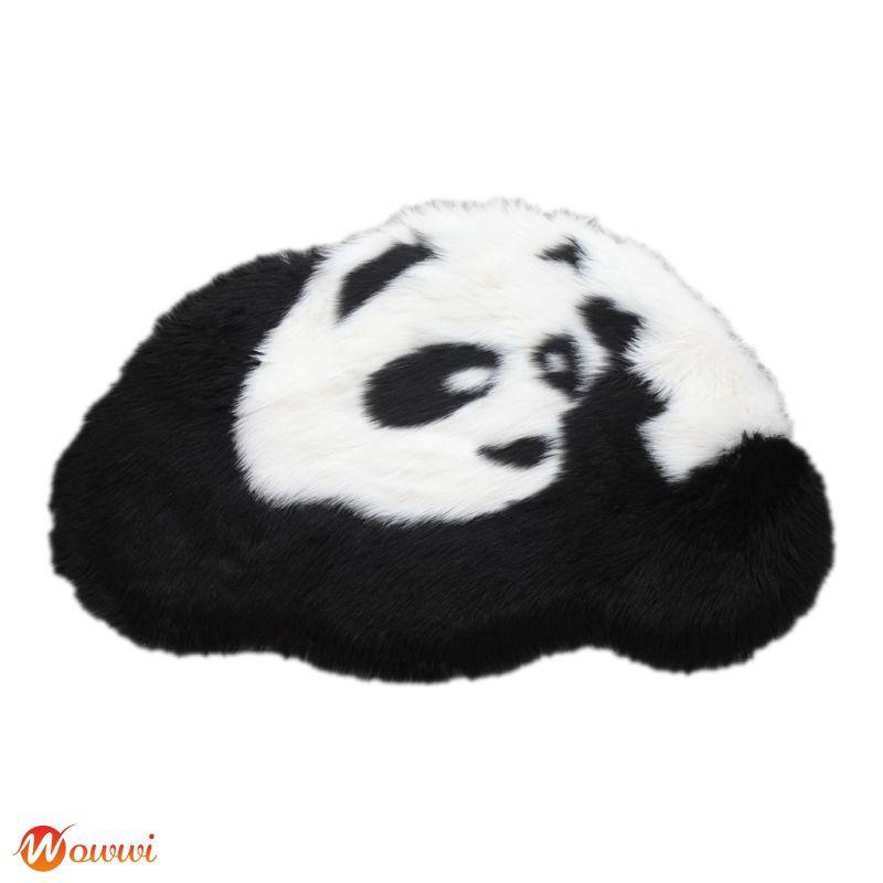 ❥ Panda Rug Hairy Carpet For Living Room Plain Fluffy Bedroom Faux Baby Play Mat Gdth