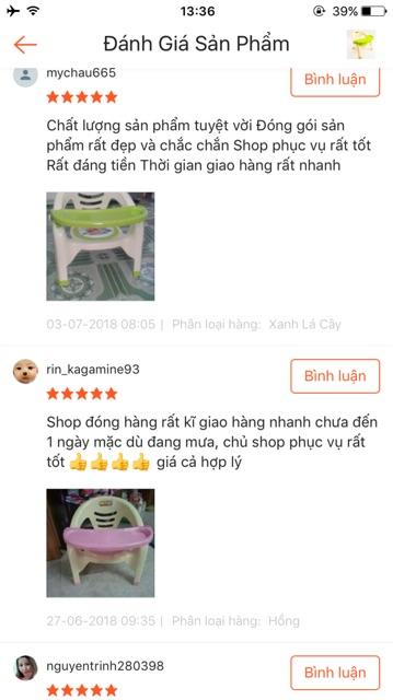 Ghế ăn dặm Việt Nhật có đệm hơi chíp chíp êm mông tạo vui nhộn khi con tập ngồi ăn