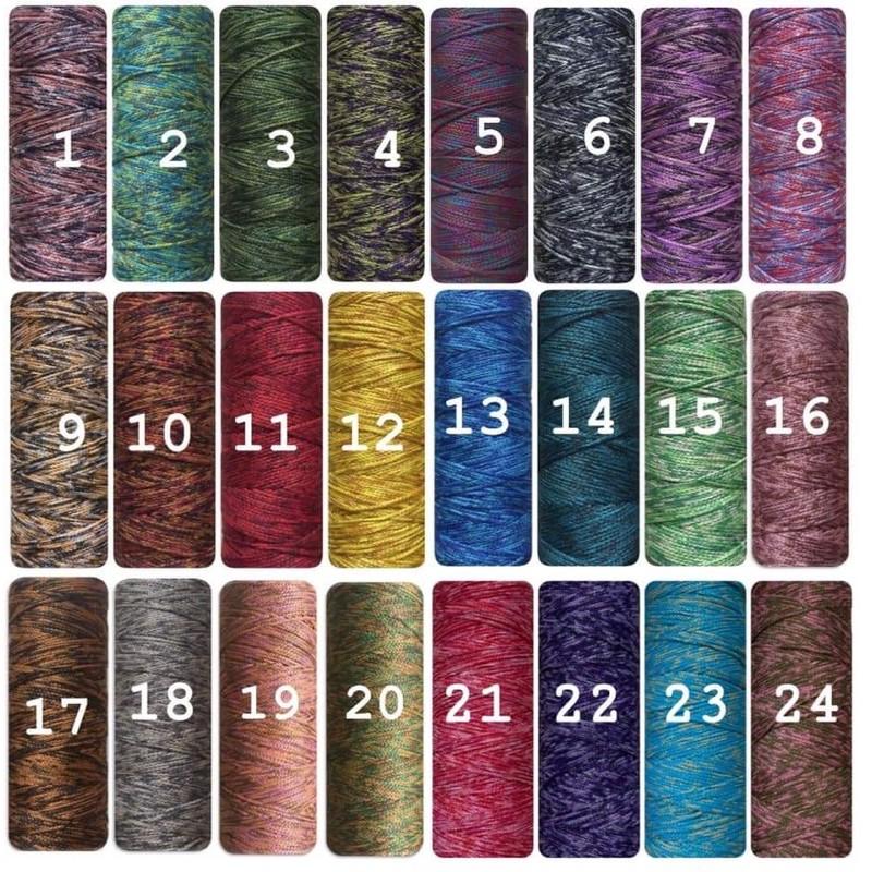 Sợi dệt cotton loang yarn craft - 160gr - Bảng màu 1