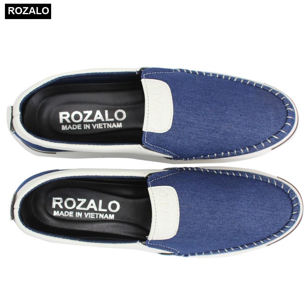 Giày lười nam vải jean Rozalo R4600