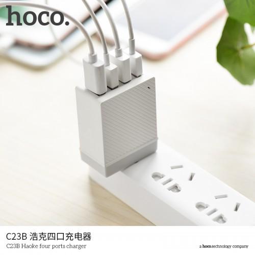 Cốc Sạc Nhanh Hoco C23B 4 Cổng USB 3.4A